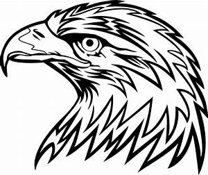 Animals For > Eagle Head Logo Design Black And White ...