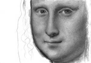 Mona Lisa Pencil Drawing