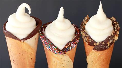 homemade soft serve ice cream recipe  machine gemma