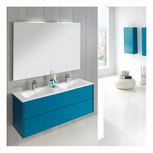 Miroir Meuble Salle De Bain : meuble de salle de bain 150 cm suspendu double vasque madina ~ Teatrodelosmanantiales.com Idées de Décoration