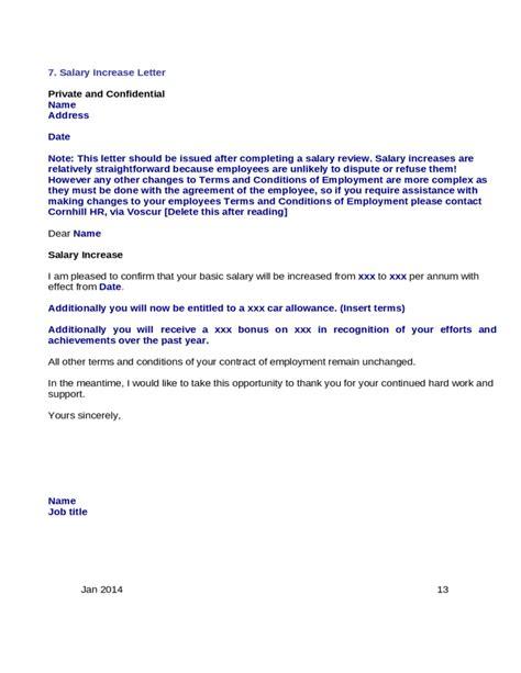 basic sample salary increase letter