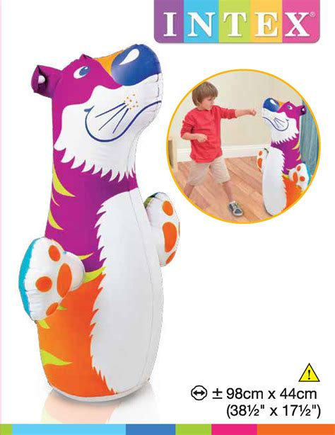 intex 3d bop bag tiger toy at mighty ape nz