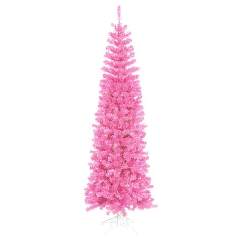 6 5 pre lit hot pink tinsel christmas tree pink lights ebay