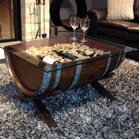 whiskey barrel coffee table  sale pictures