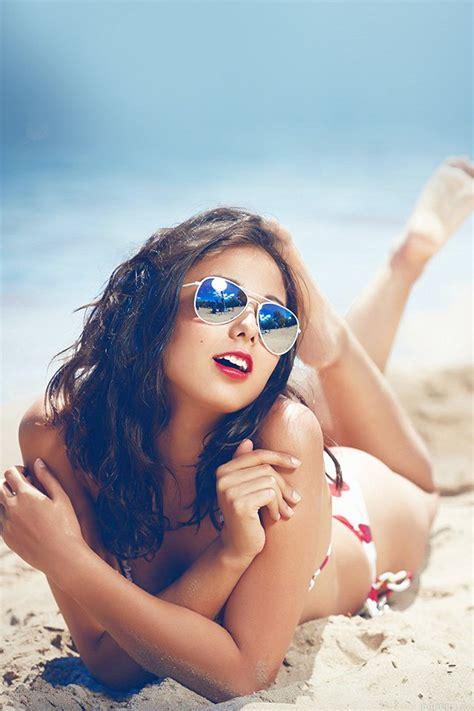 beach girl sunglasses sunny summer sexy papersco