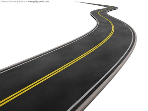 isolated road  white background psd graphic hive
