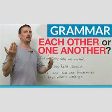 Learn English Grammar Each Other & One Another · Engvid