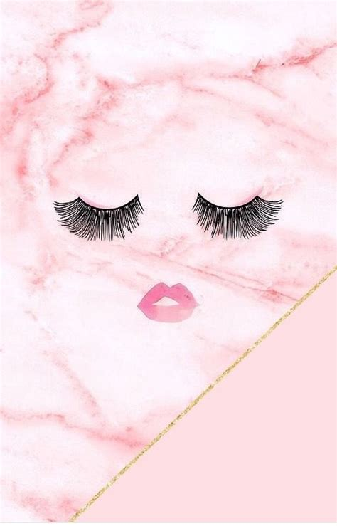 Pretty Lock Screen Wallpapers Eyelashes Girly Mascara Marble Pink Wallpaper Phone Wallpapers Pinterest Pink Wallpaper