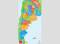Political Simple Map of Argentina, political shades outside