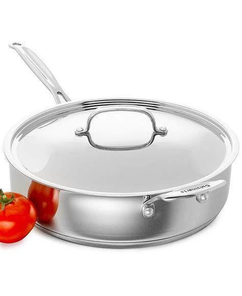 cuisinart chefs classic stainless steel covered  qt saute pan reviews cookware