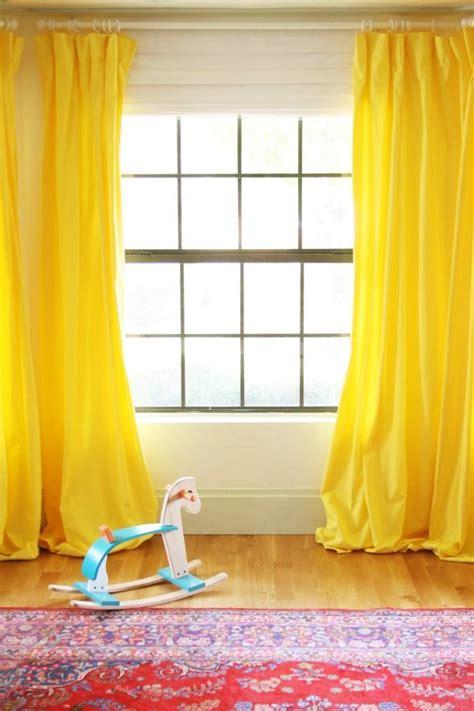 brighten   room  yellow curtains