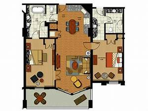 Two bedroom floor plan for parc soleil hotel by hilton for Soleil floors