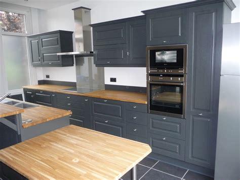 renovation meuble cuisine en chene cuisine equipée chêne gris foncé cuisines liebart
