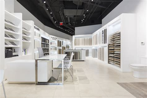 porcelanosa opens  tile kitchen bath showroom