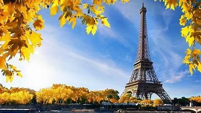 Eiffel Paris Tower Yellow Background Sky Travel