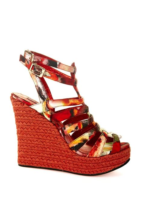 Coco Lee wedges with sweet chilli sauce Womens fashion