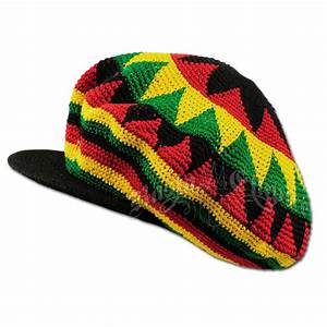 Oversized Rasta Dreadie Crochet Applejack Hat