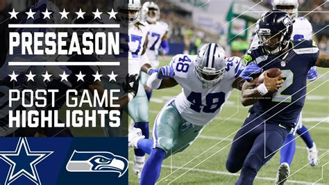 cowboys  seahawks game highlights nfl youtube
