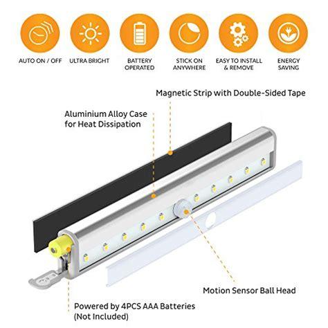 led motion sensor night light stick  lights led closet
