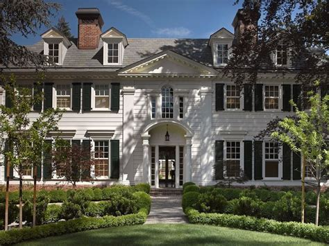 Colonial Home by Grand Colonial Style Home Exterior With White Paneling