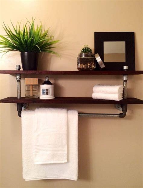 bar bathroom ideas the galvanized pipe towel rack will soon be your bathrooms