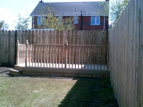 New Garden Fence With Decking Constructed In Belfast By