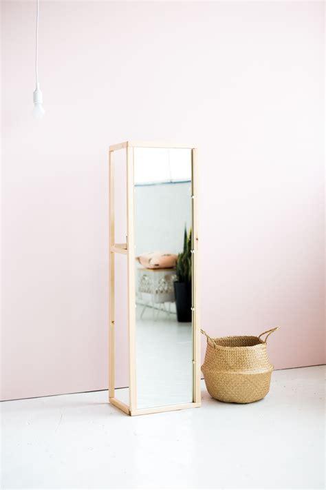 Bedroom Mirrors With Shelf by Diy Wooden Floor Standing Mirror With Useful Shelf Craft