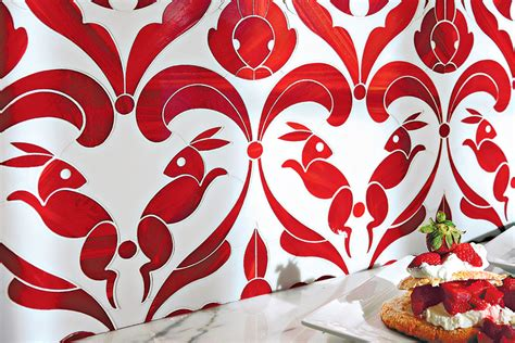 tiny mosaic tiles are a big trend among interior designers