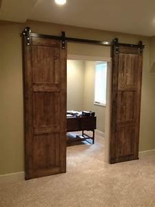 bi parting barn door for the home pinterest With bi parting sliding barn doors