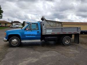 Chevy Chevrolet 3500 Hd Diesel Flat Bed Dump Truck Body