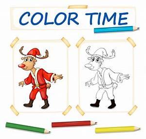Tenue De Pere Noel : mod le de coloration avec rennes en tenue de p re no l t l charger des vecteurs gratuitement ~ Farleysfitness.com Idées de Décoration