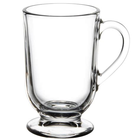 There are different styles of glass mugs for all sorts of uses. Libbey 5304 10.5 oz. Irish Glass Coffee Mug - 12/Case