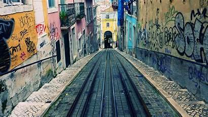 Lisbon Wallpapers Narrow Portugal Street Desktop Spain