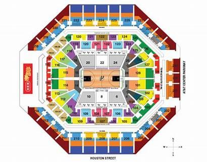 Seating Spurs Chart Center Antonio Stadium Att