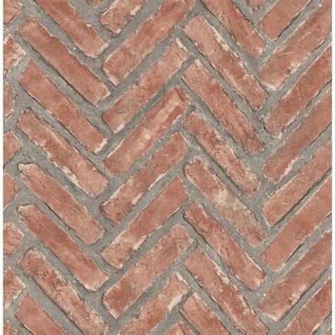 Fine Decor Distinctive Herringbone Brick Wallpaper Natural