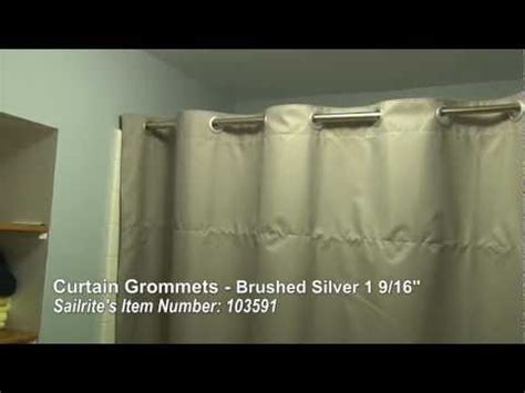 Curtain Rod Grommet Kit by How To Install Curtain Grommets Do It Yourself Advice