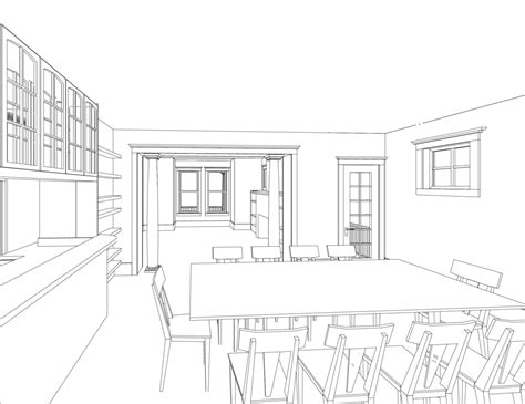 dining room drawing dining room perspective drawing 78889