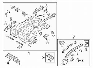 2017 Ford Spare Tire Compartment Bracket  Floor  Body