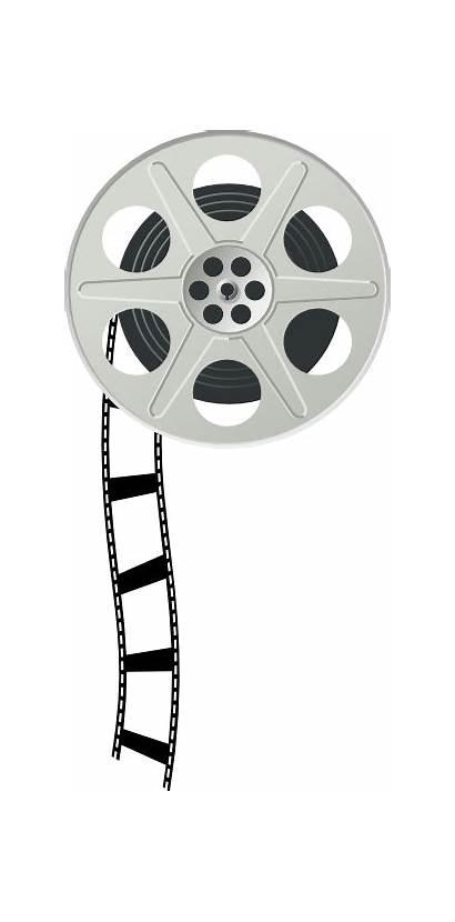 Reel Clipart Film Clip Roll Border Cartoon