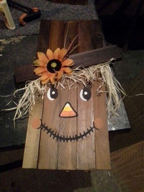 Wooden Scarecrow Face Diy  My Diy Projects  Pinterest  Scarecrow Face, Scarecrows And Face