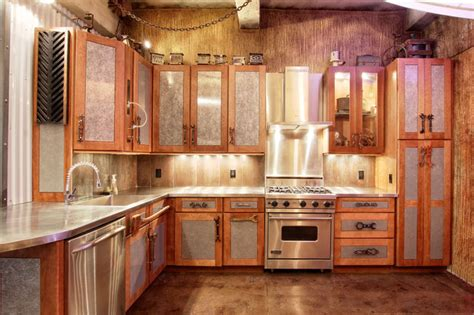 manhattan steam punk loft eclectic kitchen  york