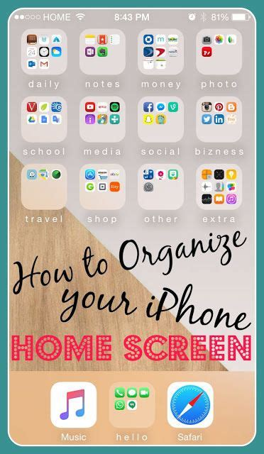 iphone home screen layout ideas how to organize your iphone home screen julie sanchic