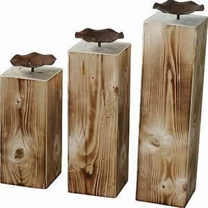 Säulen Aus Holz : holz s ule kerzenst nder rustical landhaus kerze dekoration wohnen deko edelrost gute ideen ~ Orissabook.com Haus und Dekorationen