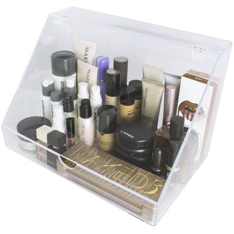 acrylic makeup organizer display case palette holder