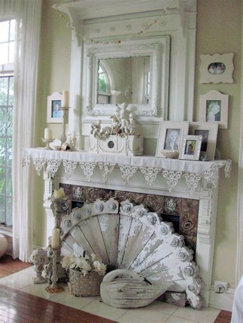 shabby chic fireplace shabby chic fireplace furnishings pinterest