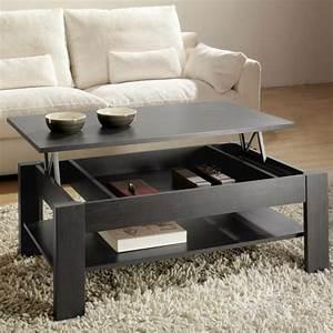 Table Basse De Salon : la table basse relevable pour votre salon fonctionnel ~ Teatrodelosmanantiales.com Idées de Décoration
