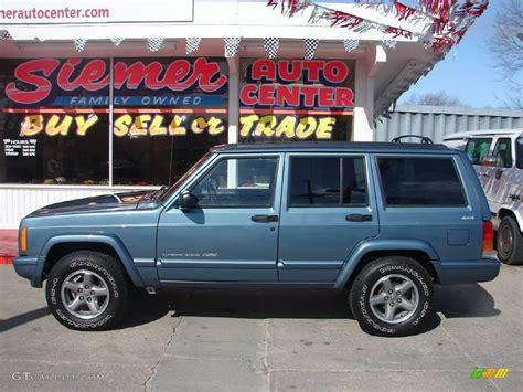 gunmetal blue jeep 1998 gunmetal pearl jeep cherokee classic 4x4 6911225