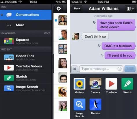 kik iphone kik messenger get big update for iphone ipod