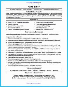 exciting billing specialist resume that brings the job to you With sample resume for medical billing and coding student