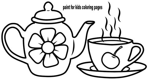 coloring set tea set coloring sheet coloring coloring pages